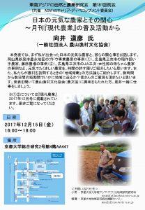 東南アジアの自然と農業研究会 第181回例会