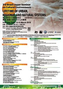 3rd Brazil-Japan Seminar on Cultural Environments LIFETIME OF URBAN, REGIONAL AND NATURAL SYSTEMS