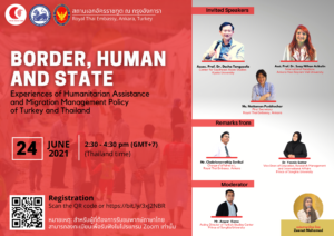 """Talk title: """"Fear, Flight, Confinement?: Humanitarian Crises along the Thai-Myanmar Border Region and Beyond"""" Conference on """"Border, Human, and State: Experiences of Humanitarian Assistance and Migration Management Policy of Turkey and Thailand"""""""